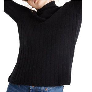 Madewell Evercrest Turtleneck Sweater black Small